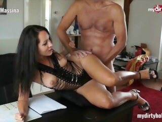 MyDirtyHobby - Busty secretary in stockings fucks her boss at the office mydirtyhobby amateur german