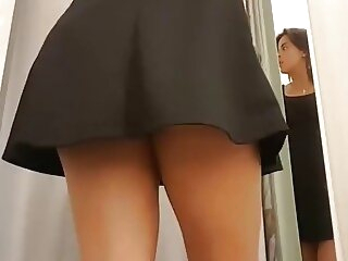 Look at me changing in the fitting room of a store reality upskirt